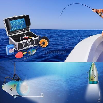 30M 1200TVL Camera Underwater Fish Finder Ice/Sea/River Fishing 7in Monitor Q4C3