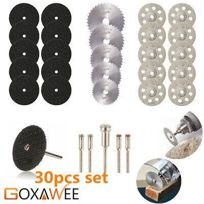 - 30Pcs/set Diamond Cutting Disc Saw Blade Grinding Wheel Set Rotary Tool Circular