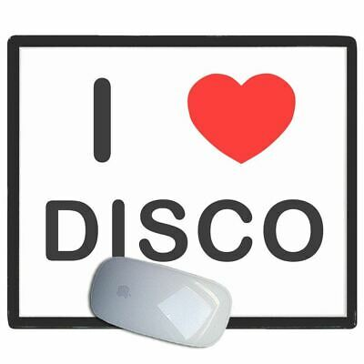 I Love Heart Disco - Thin Pictoral Plastic Mouse Pad Mat Badgebeast