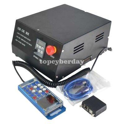 Usb Cnc Box 4 Axis Stepper Motor Driver Controller Box Mach3 Nc200handwheel