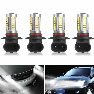 - 4pcs LED Headlight Bulb Fits Chevy Pickup Truck K1500 1990-1999 High & Low Beam