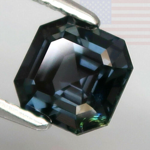 1.46CT SPINEL RICH COLOR NAVY BLUE EMERALD CUT LOOSE RARE GEMSTONE (THAILAND)