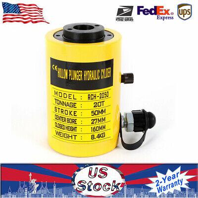 20t 44000lbs 2inch Manual Electric Oil Pump Hydraulic Cylinder Jack F Welders