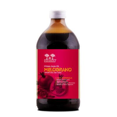 SUCCO DI MELOGRANO Salugea - Puro al 100% da agricoltura biologica - 500 ml