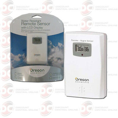OREGON THGR122NX SCIENTIFIC WIRELESS TEMPERATURE AND HUMIDITY SENSOR LCD DISPLAY