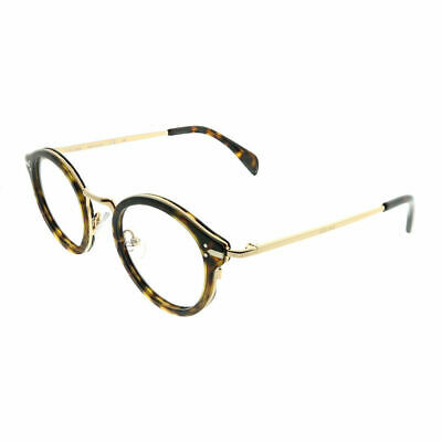 Celine Joe CL 41380 ANT Dark Havana Gold Plastic Round Eyeglasses 46mm