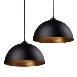 NEW Modern Pendant Light, Frideko 2 Pack Metal Gold Hemisphere Lamp Shade Ceiling Pendant Light Condtion: New, 2 Pcs ...