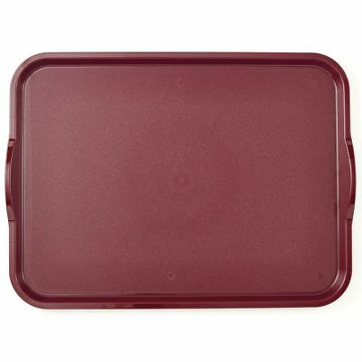 Cambro Camwear Nonskid Tray with Handles Dark Cranberry - 20