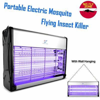 Electric Mosquito Killer Fly Bugs Insects Zapper Pest Control Trap UV Lamp 20W