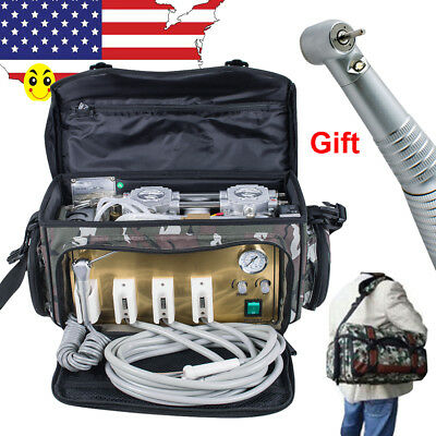 Usa Portable Dental Turbine Unit 4 Hole Air Compressor Suction System Equipment