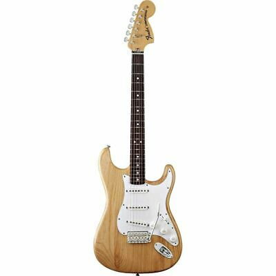 Fender 70's Stratocaster Pau Ferro Fingerboard Natural Ash Electric Guitar w/Bag