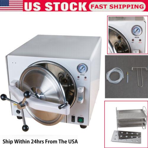 900W 18L Medical Autoclave Steam Sterilizer Safe Sterilizer Stainless Device US