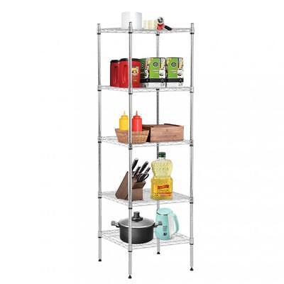 New 5 Tier Wire Shelving Unit Nsf Metal Shelf Rack Height Adjustable 18x18x59