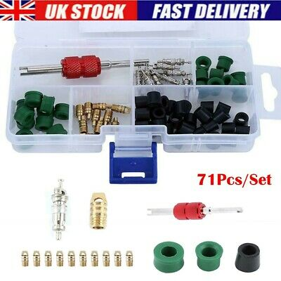 71 Pcs Repair Tools Refrigeration Rubber Hose Gaskets Kits AC Manifold Gauge
