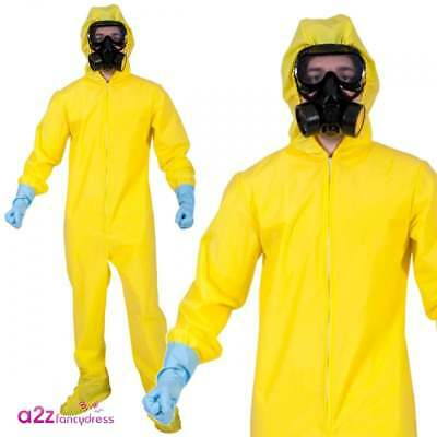 Chemist Walter White Hazmat Yellow Chemical Suit Halloween Fancy Dress Costume ](Yellow Hazmat Suit Halloween)