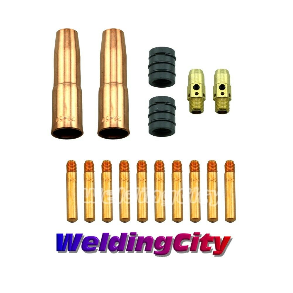 """MIG Welding Gun Kit .045/"""" tips 23 Nozzle 54A Diffuser for Lincoln Tweco 300//400"""
