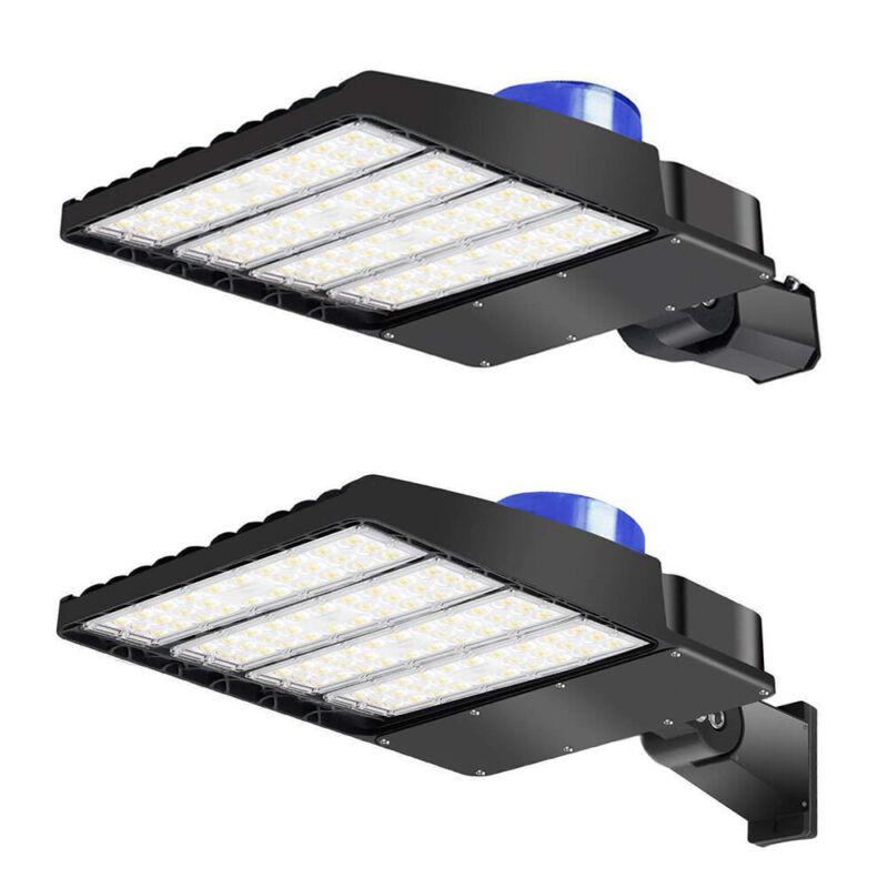 LED Parking Lot Light 300W 200W 150W 100W Shoebox Street Pole Area Light Fixture