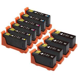10 Pack 100 XL Black & Color Ink Cartridges for Lexmark Prevail Pro705 Pro706