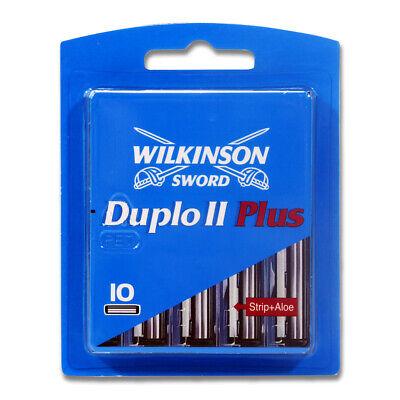 20x Wilkinson Duplo II Plus Rasierklingen Klingen Nassrasur Männer Herren Rasur