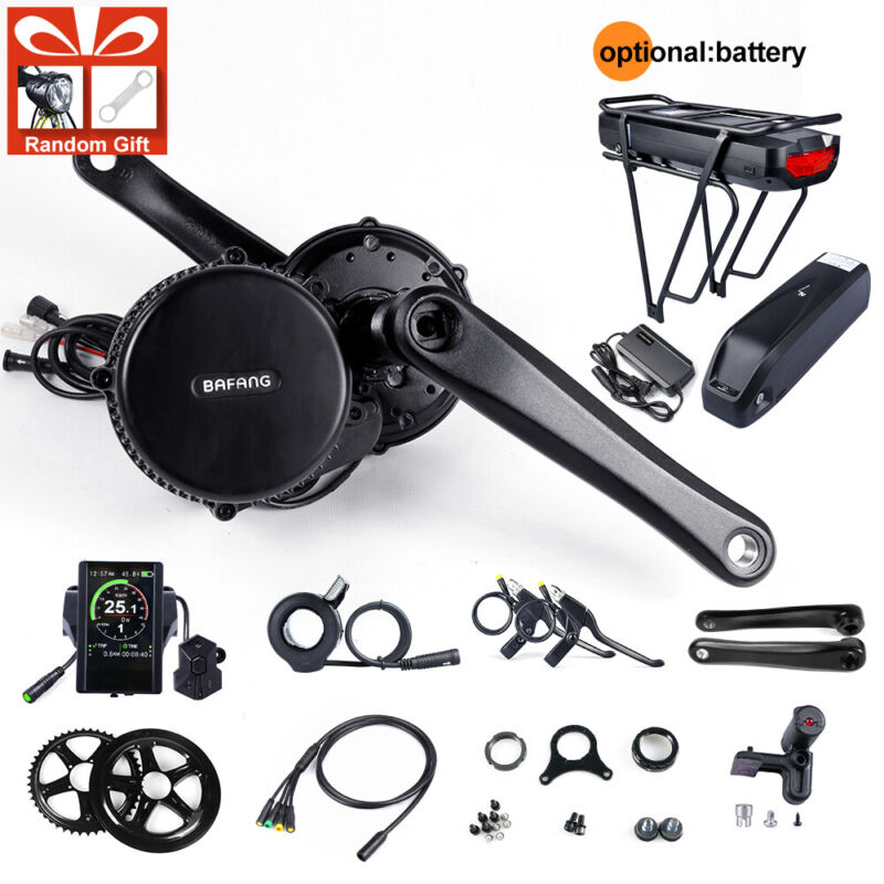 48V 750W BAFANG BBS Mid Motor Electric bicycle Conversion Kit With Ebike Battery