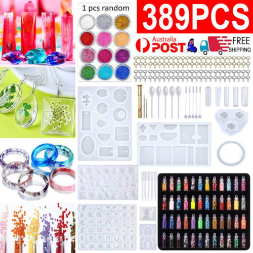 Jewellery - 389X DIY Jewelry Mould Handmade Crystal Glue Making Set Resin Silicone Mold Kit