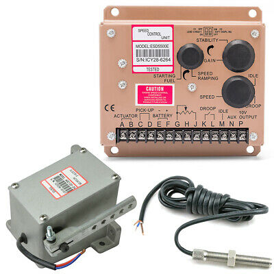 Esd5500e Series Speed Governor Esd5500e Speed Controller Speed Sensor Actuator