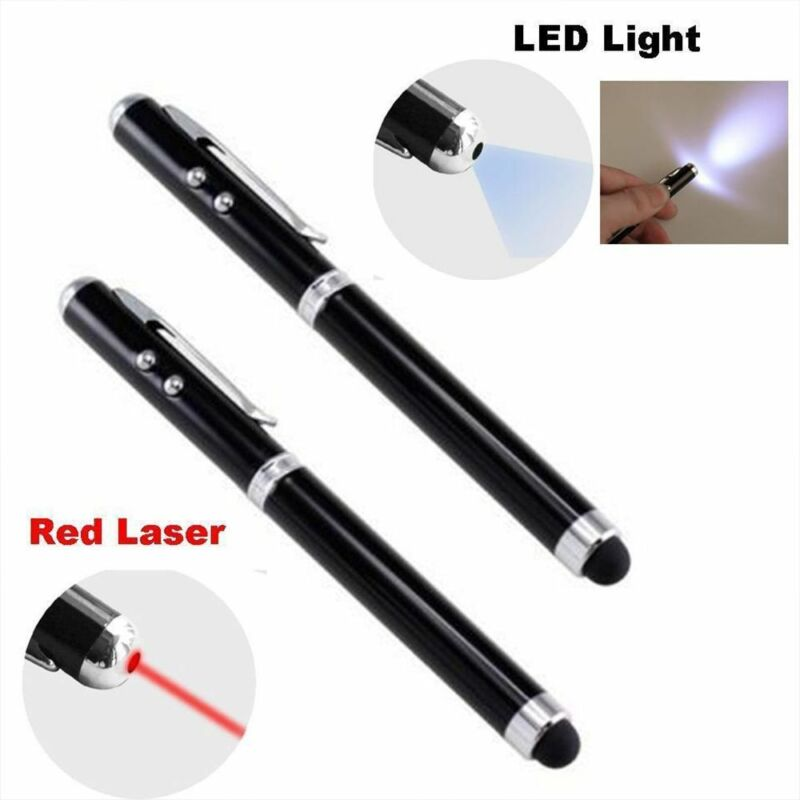 Laser Pen Red /& Led Light /& Touch Screen /& Writing Pen 4 IN 1 *High Quality*