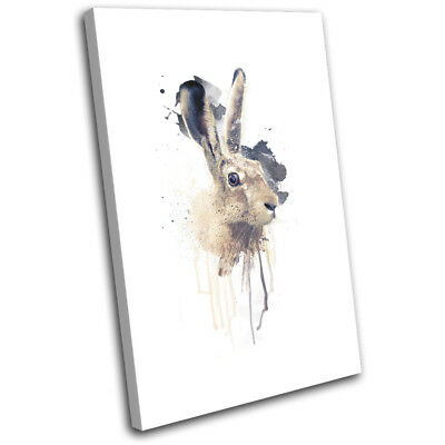 March Hare Rabbit Paint Abstract 60x40cm Animals CANVAS WALL ART Print