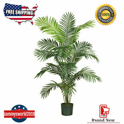 Plastic Palm Tree Decorations (Nearly Natural Paradise Palm Silk Tree Artificial Plant Indoor Home Office)