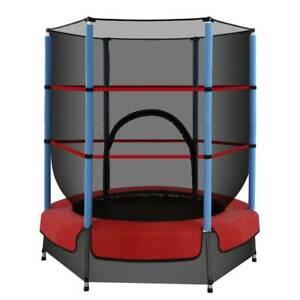 4.5ft Trampoline Round Trampolines Kids Enclosure Safety Net