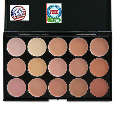 15 Colors Professional Foundation Concealer Contour Palette Cosmetic # 2  Sponge