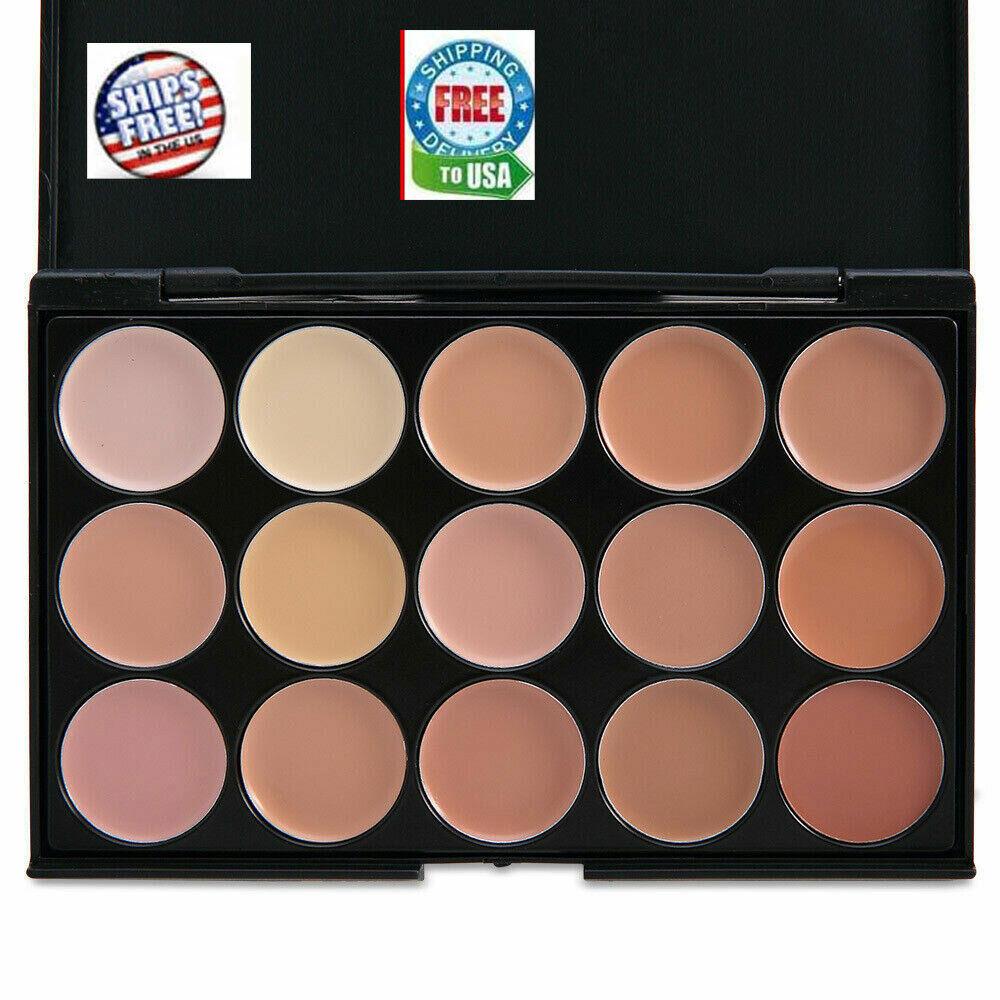 15 Colors Professional Foundation Concealer Contour Palette Cosmetic # 2  Sponge Concealer