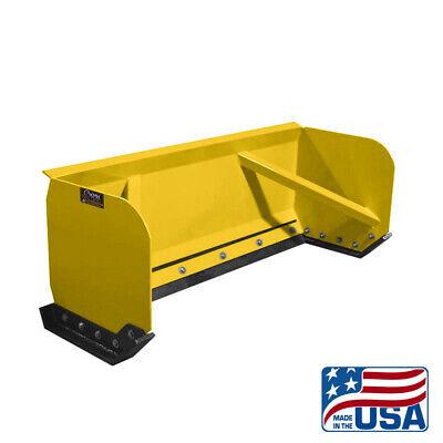 8 Yellow Skid Steer Snow Pusher Boxbobcatkubotaquick Attachfree Shipping