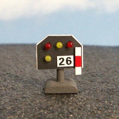W27 - Spur 1 - Gleissperrsignal nieder mit LEDs rot / gelb Lichtsignal Signal