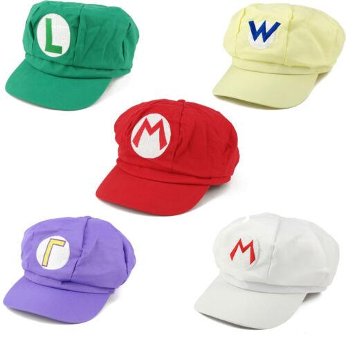 Mario, Luigi, Wario, Waluigi, Fire Mario Embroidered Newsboy Hat - FREE SHIPPING