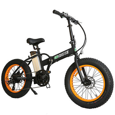 Electric Folding Bike Fat Tire Bicycle Beach Snow mountainbike E-Bike 36v 350w