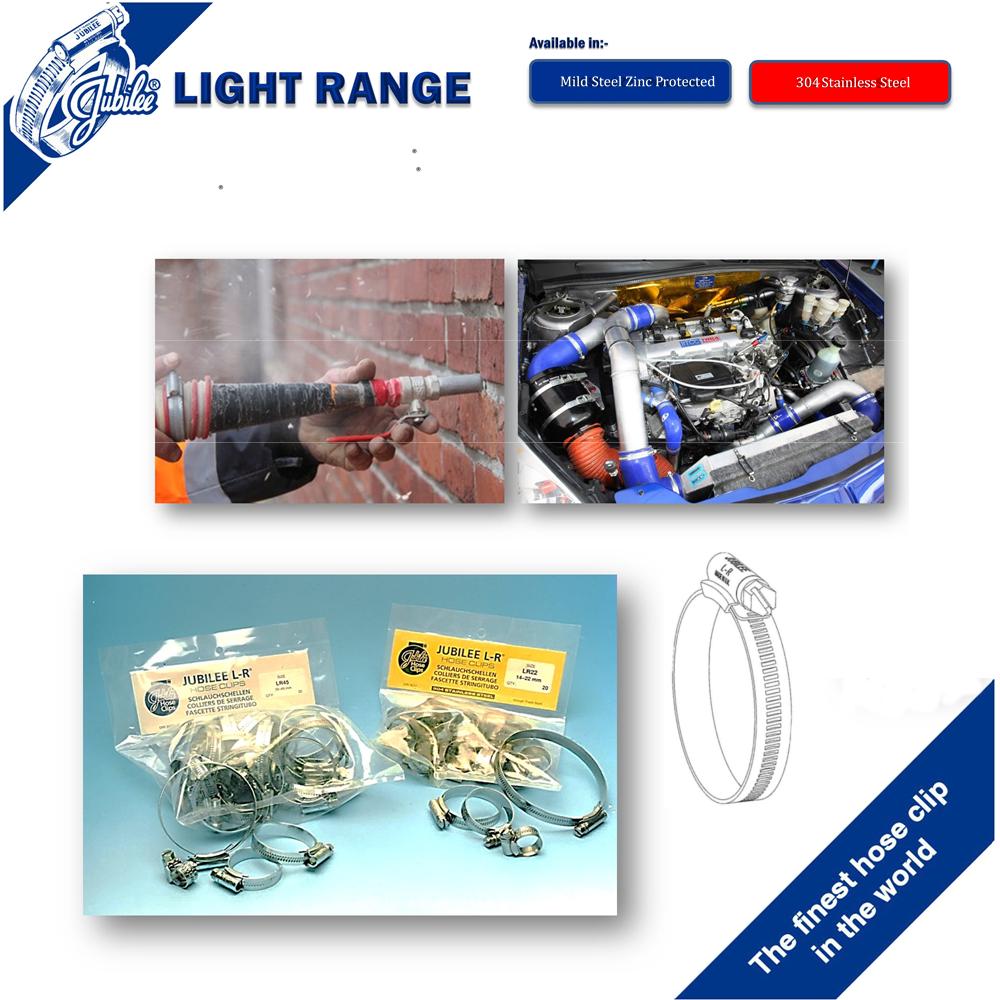 Jubilee LR Clip 160 MS 140-160mm Light Range x 2 pcs