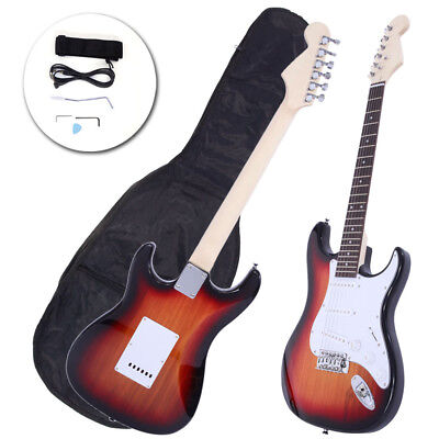 New School Band Electric Guitar Set w/ Bag Accessories Sunset Color