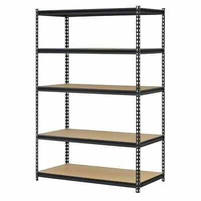 5 Shelf Metal Storage Rack Steel Shelving Adjustable Heavy Duty 48 X 18 X 72 In
