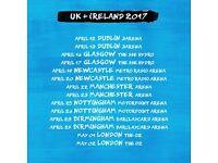 Ed Sheeran, Wednesday May 3rd, 2X STANDING TICKETS