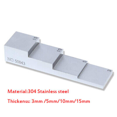4 Step Test Calibration Block 3mm 5mm 10mm 15mm 304 Stainless Steel Ndt Testing