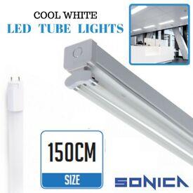 5FT Fluorescent Light Fittings T8 LED Tube Light Twin Batten 5ft 150cm Retrofit