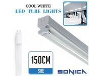 Used, 5FT Fluorescent Light Fittings T8 LED Tube Light Twin Batten 5ft 150cm Retrofit for sale  Hull, East Yorkshire