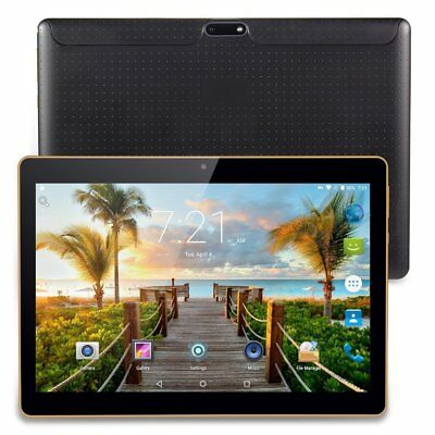 "10.1"" ANDROID 7.0 TABLET playstore PC 3G Dual SIM 32GB OCTA CORE 4GB RAM GPS BK"