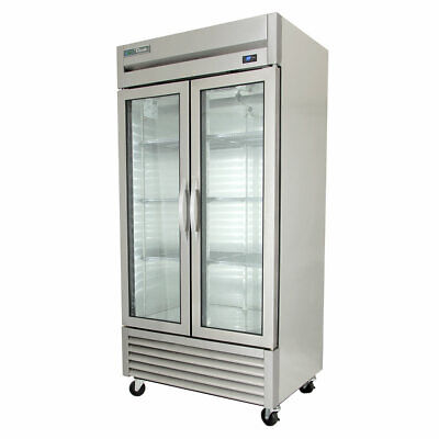 True T-35g-hcfgd01 39 35 Two Section Reach In Refrigerator 2 Glass Doors