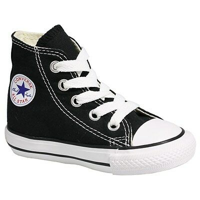 CONVERSE CHUCK TAYLOR BLACK /WHT HI TOP CANVAS  FOR BABY AND TODDLERS  - Chucks Shoes For Toddlers