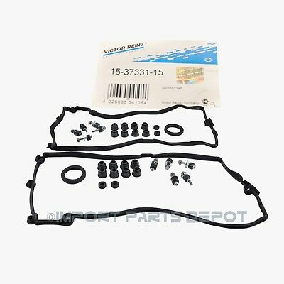 BMW Engine Valve Cover Gasket Set Left & Right Victor Reinz OEM 13194/93195