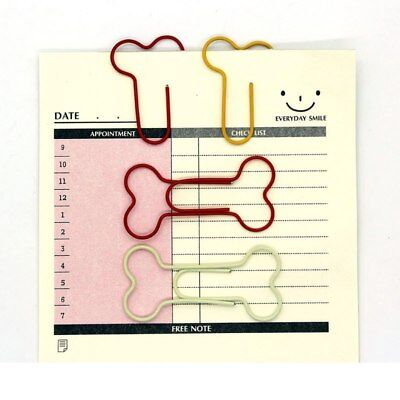 24pcslot Cute Dog Bone Shaped Paper Clips Hollow Out Metal Binder Clips