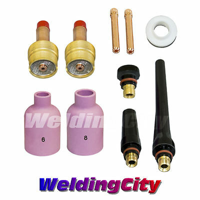 Tig Welding Large Gas Lens Accessory Kit 332 Torch 171826 T18 Us Seller