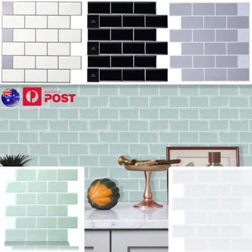 """Home Decoration - 12""""x12"""" Peel Stick on Tile Self-Adhesive 3D Wall Stickers Tiles Home Room Decor"""